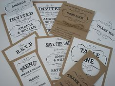 Vintage/Shabby Chic Style fancy frame wedding invitation | eBay