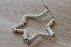 Créer une étoile en perle de bois | Idée Créative                              …
