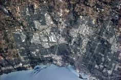 Chris Hadfield Solid-Faced Canvas Print Wall Art Print entitled Toronto, home of the Go Leafs Go! Back Photos, Great Photos, Cool Pictures, Chris Hadfield, Toronto Ontario Canada, Earth Photos, International Space Station, Earth From Space, Outdoor