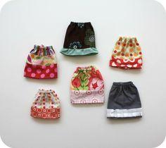 Easy Barbie skirt tutorial #sewing