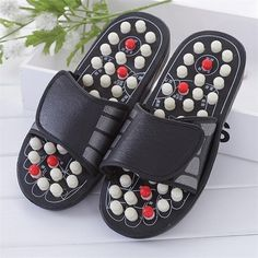 Price tracker and history of Foot Massage Slippers Health Shoe Sandal Massages Reflexology Feet Elderly Healthy Care Product Rest Pebble Stone Massager ShoesBuy Online 2 Colors One Pair Foot Massage Shoes Man And Women Rotating Foot Acupuncture Healt