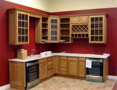 red kitchen walls | the modern home decor: red wall painting ideas