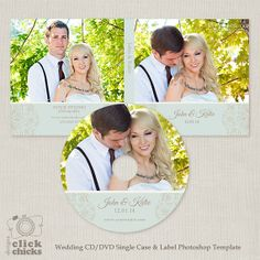 Wedding CD/DVD Single Case and Label by ClickChicksDesigns on Etsy, $8.00