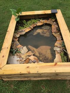 Build this simple, above ground pond ideas in a weekend. It features a fountain and a trellis.Build this simple, above ground pond ideas in a weekend. It features a fountain and a trellis. Turtle Aquarium, Turtle Pond, Pet Turtle, Aquarium Ideas, Turtle Enclosure, Tortoise Enclosure, Pond Landscaping, Ponds Backyard, Backyard Ideas