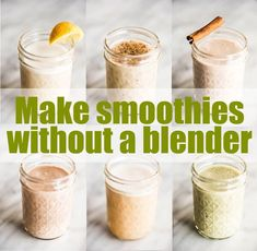 10 Easy Protein Shake Recipes You Can Make Without a Blender - truvision shakes - Protein Snacks, Pancakes Protein, Protein Desserts, Yummy Smoothie Recipes, Healthy Breakfast Smoothies, Healthy Recipes, Vegan Breakfast, Healthy Eats, Healthy Foods