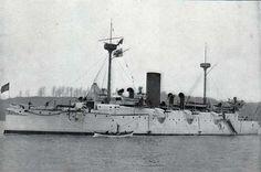 U.S. Navy 1898 | Photograph : USS Charleston : Unarmored Protected Cruiser.