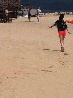 Bom at the beach