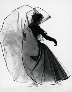 "Dancer Tanaquil Le Clercq Performing ""La Valse"", New YorkLife Magazine, 1951Photographer: Gjon Mili."