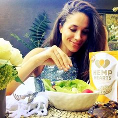"""Yay! Today we're back filming for @suits_usa!! But first power lunching on salad w/ @manitobaharvest hemp hearts for energy. Woot woot! #manitobaharvest…"""