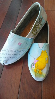 Items similar to Winnie the Pooh and Piglet TOMS on Etsy. , via Etsy.