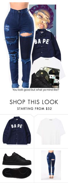 """""""Untitled #408"""" by papilucas ❤ liked on Polyvore featuring A BATHING APE, Vince and adidas"""