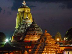 Jagannath puri temple at night in #Orrisa