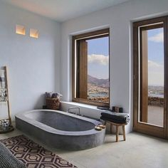 Bathroom with views.