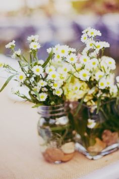 Country wedding with wild flowers