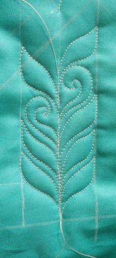 Free Motion Quilt, Tutorial, Open Leaf