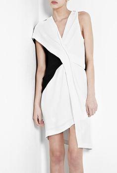 Copious: HELMUT LANG Sugar Fold Twist Dress