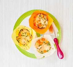 Toddler recipe: Get your toddler eating fish with these salmon and sweet potato muffins that are rich in They're easy to hold, so ideal for baby-led weaning Sweet Potato Muffins, Sweet Potato Recipes, Toddler Meals, Kids Meals, Toddler Food, Toddler Recipes, Baby Meals, Baby Foods, Bbc Good Food Recipes