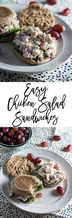 The summer months can finally be spent without turning on the stove with these easy chicken salad sandwiches recipe.  It's a quick lunch recipe that you can throw together super fast for a week day lunch or dinner recipe.  It's only 5 SmartPoints per serving on Weight Watchers. via @dashofherbs