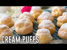 Ever wanted to make perfect Cream Puffs at home? Today I'm showing you exactly how to make them completely from scratch in the comfort of your own kitchen. Just Desserts, Delicious Desserts, Dessert Recipes, Rough Puff Pastry, Yogurt Bread, Cream Puff Recipe, How To Make Cream, Jelly Cake, Rich Recipe