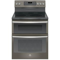 GE Appliances JB860EJES 6.6 cu. ft. Freestanding Electric Double Oven Convection Range - Slate