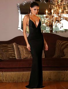 cec3d02d6d4a Black Mermaid Backless Floor-length Dress. Damenmode Online ShopBackless  Prom ...