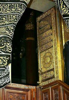 When the kabah door was open # Mecca Mecca Masjid, Mecca Islam, Masjid Al Haram, Islamic Qoutes, Islamic Images, Islamic Pictures, Islamic Messages, Islamic Wallpaper Hd, Mecca Wallpaper