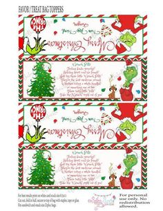 Grinch Pills Treat Bag Topper Printable by BaileyBunchInvites Grinch Christmas Decorations, Grinch Christmas Party, Christmas Craft Fair, Grinch Party, Christmas Topper, Christmas Party Favors, Childrens Christmas, Christmas Bags, Christmas Love