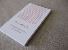 graph paper calling cards