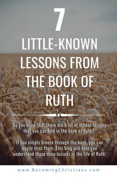 Ruth is a popular Biblical name. While a lot of people know this name, not many know the lessons from the Book of Ruth. Do you want to know these lessons and how to apply them in your life? Bible Study Tips, Scripture Study, Bible Lessons, Bible Teachings, Bible Scriptures, Bible Quotes, Quotes Quotes, Ruth Bible, Book Of Ruth