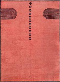 Ivan Da Silva Bruhns; Hand-Knotted Wool Rug, 1930s.