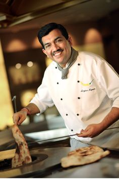 """Sanjeev Kapoor. I have his """"How to Cook Indian"""" bible. Wow. He's amazing."""