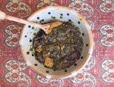 Spinach & Plum (Prune) Persian Stew Recipe on Prune Recipes, Spinach Recipes, Vegetarian Recipes, Cooking Recipes, Veg Stew, Lamb Stew, Dried Prunes, Turkish Recipes, Persian Recipes
