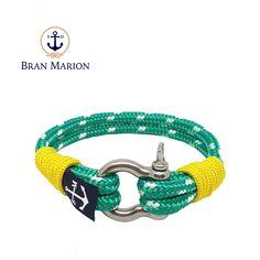 Slaine Nautical Bracelet by Bran Marion Nautical Bracelet, Nautical Jewelry, Marine Rope, Captain Hook, Paracord Bracelets, Everyday Look, Handmade Bracelets, Color Combinations, Jewelry Collection