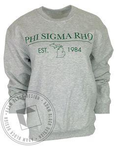 Phi Sigma Rho Michigan Sweatshirt by Adam Block Design