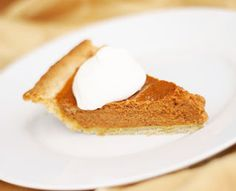 Pumpkin Pie  A Thanksgiving-worthy blend of spices, pumpkin, and almond flour (to reduce the carb count).
