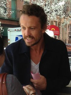 David Lyons at the Tribeca Film Festival on 2014 April 19. #davidlyons #moralfibers #tribecafilmfestival