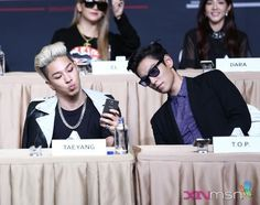Taeyang and TOP | YG Family Power Tour in Singapore Press Conference 140912