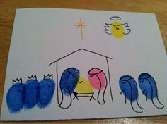Dirt Don't Hurt: Fingerprint Nativity Cards