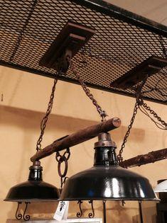 Antique Yoke Pulley light by crowsnestinc on Etsy