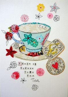 Giclee Print A4  edición limitada-es hora de té & galletas