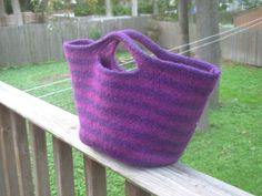 Felted bag, Ravelry pattern