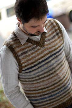 Knit Vest Pattern, Knit Patterns, Brooklyn Tweed, Wool Vest, Knit In The Round, Stockinette, Baby Sweaters, Crochet, Vest Coat