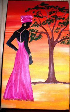 Beautiful Fantasy Art, Beautiful Paintings, Arte Black, African American Artwork, Afrique Art, African Art Paintings, Pottery Painting Designs, Afro Art, Mural Art