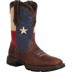Durango Rebel Patriotic Ladies' Rebel Boots Distressed Brown with Texas Flag TopsDurango Texas Flag Boots style RD3446 will keep your Texan spirit going strong, whether you live in Texas, near Texas, or far away from Texas. These boots will be a great asset when it comes to showing off your pride. The 12 inch top proudly displays the Texas flag for everyone to see when you shotgun your boots or ...140.00