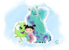 Monster's, Inc. Monsters Inc Boo, Monsters Ink, Disney Monsters, Cute Disney, Disney Dream, Disney Art, Disney Sketches, Disney Drawings, Sullivan Y Boo