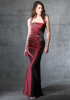 Burgundy Gown.....Hmmmm..... I'm thinking.....
