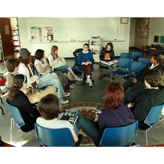 Using the Socratic Seminar in a high school English class. Good primer for my student teacher.  **Using this on Thursdays with article if the week**