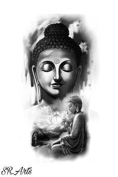 Buddha Purnima Wishes , Quotes and Buddha images {Happy Buddha Purnima Buddha Tattoo Design, Shiva Tattoo Design, Clock Tattoo Design, Tattoo Designs, Buddha Painting, Buddha Art, Meditation Tattoo, Meditation Music, Buda Tattoo