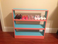 Mini baby shoe rack! @Lindsay Dillon Wood