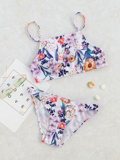 0cd18389 Shop Floral Print Sexy Bikini Set online. SheIn offers Floral Print Sexy  Bikini Set &